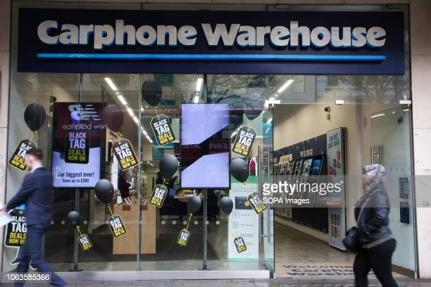 Shoppers are seen at the London's Oxford Street as the Carphone Warehouse prepares for the Black Friday Event with huge savings Black Friday is a...