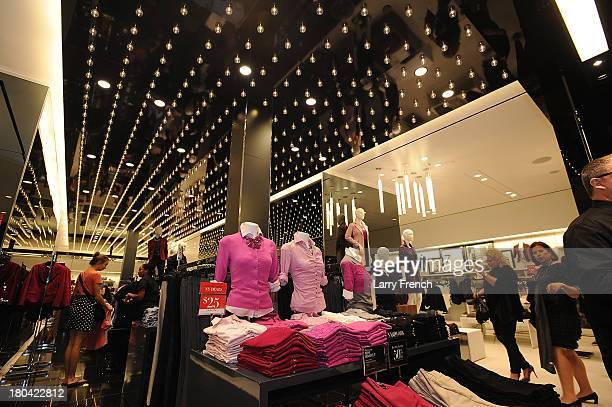 Shoppers are seen at the opening of New York Company at The Mall in Columbia on September 12 2013 in Columbia Maryland