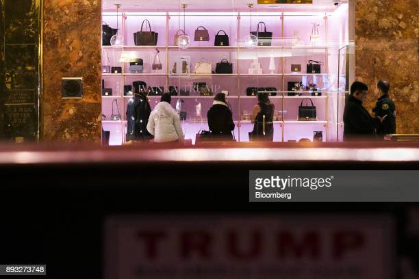 Shoppers are seen inside an Ivanka Trump brand store at Trump Tower in New York US on Thursday Dec 14 2017 Trump's new store marks her second foray...