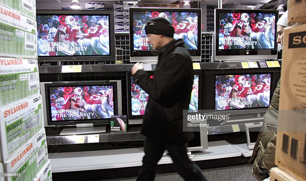 Shoppers Are Seen Neat Flat Screen Televisions At A Best Buy In New