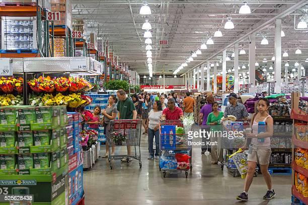 Shoppers at a Costco in Arlington VA