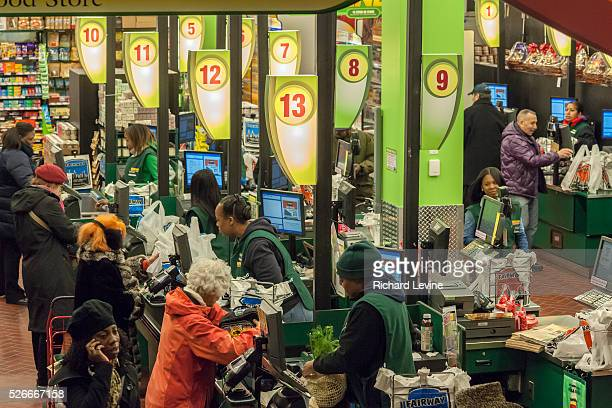 Shoppers at the Fairway supermarket on the Kips Bay neighborhood of New York on its official grand opening day, Friday, February 1, 2013. Fairway...
