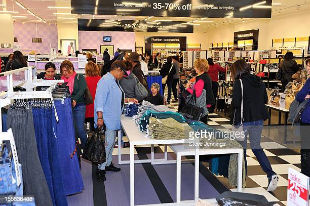 Shoppers at the opening of Bloomingdale's Livermore at Paragon Outlets on November 8 2012 in Livermore California