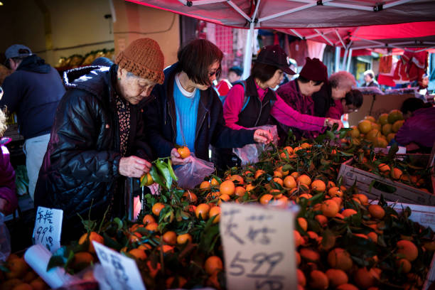 CA: Festive Decorations And Preparations In San Francisco Chinatown Ahead Of Lunar New Year
