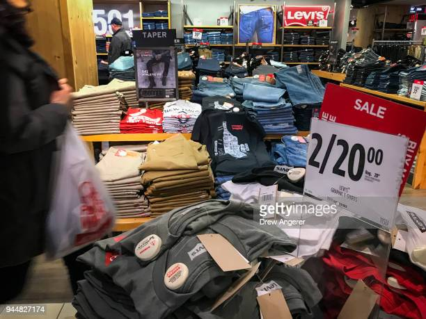 Shoppers browse in a JCPenny store at the Manhattan Mall in the Herald Square neighborhood of Manhattan April 11 2018 in New York City US consumer...