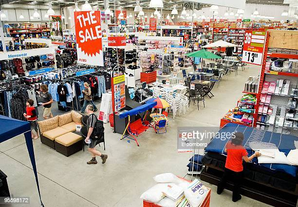 Shoppers browse the aisles of a Warehouse Group Ltd store in Paraparaumu New Zealand on Wednesday Jan 6 2010 Warehouse Group Ltd New Zealand's...