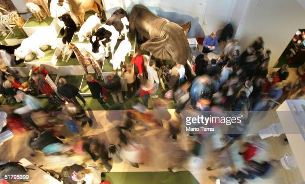 Shoppers crowd FAO Schwarz the day after its grand reopening November 26 2004 in New York City The Friday after Thanksgiving called 'Black Friday' is...
