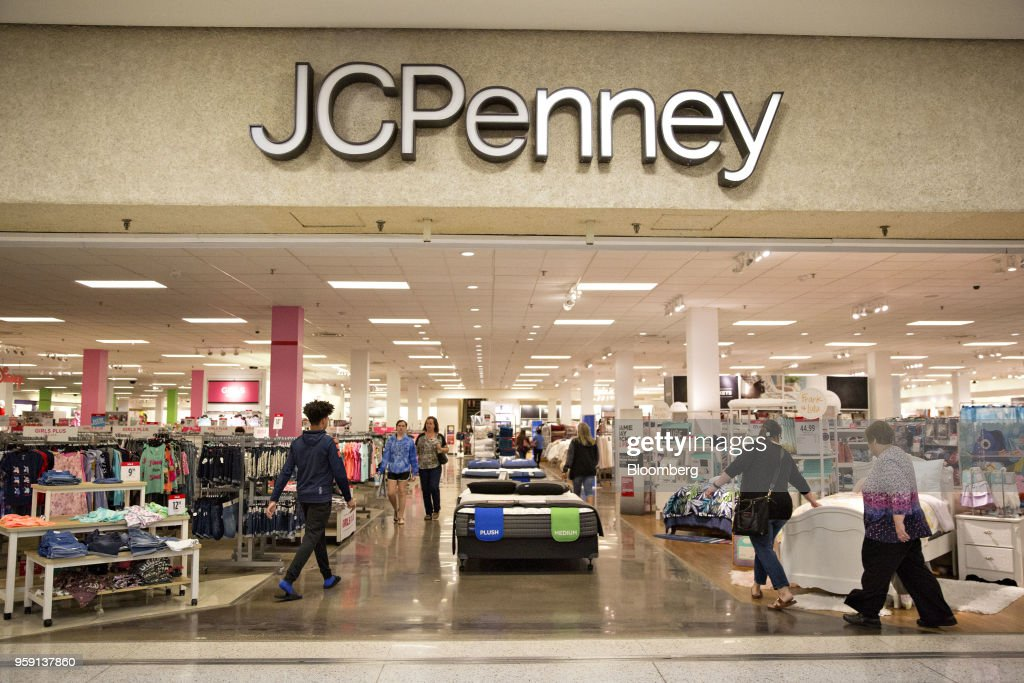 Shoppers enter a J.C. Penney Co. store in Peoria, Illinois, U.S., on Saturday, May 12, 2018. J.C. Penney Co. is scheduled to release earnings figures on May 17. Photographer: Daniel Acker/Bloomberg via Getty Images