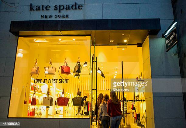 Shoppers enter a Kate Spade Co store in Corte Madera California US on Friday Feb 27 2015 Kate Spade Co is expected to release earnings figures on...