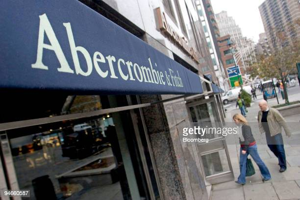 Shoppers enter an Abercrombie Fitch store in New York US Wednesday Nov 21 2007 Abercrombie Fitch Co the Ohio based retailer of clothes for teens and...