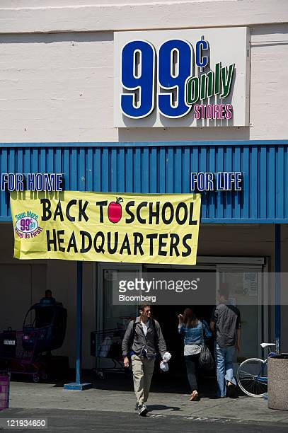 Shoppers enter and exit a 99 Cents Only Store in Berkeley California US on Monday Aug 22 2011 Apollo Global Management LLC will make an offer to...