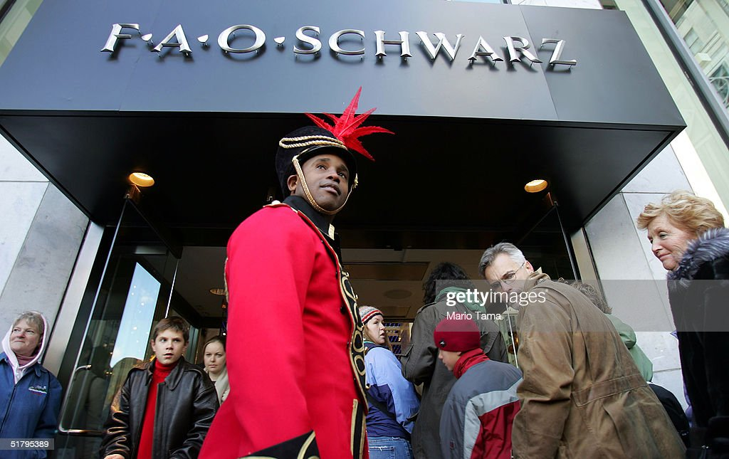 Shoppers enter FAO Schwarz toy store the day after its grand re-opening November 26, 2004 in New York City. The Friday after Thanksgiving, called 'Black Friday,' is one of the busiest shopping days of the year with stores opening early and a large number of shoppers looking for holiday gifts.