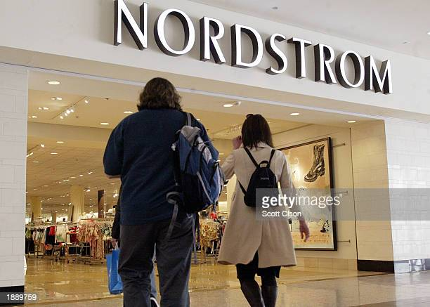 Shoppers enter the Nordstrom store April 1 2003 on Michigan Avenue in Chicago Nordstrom Inc announced yesterday that based on quartertodate sales...