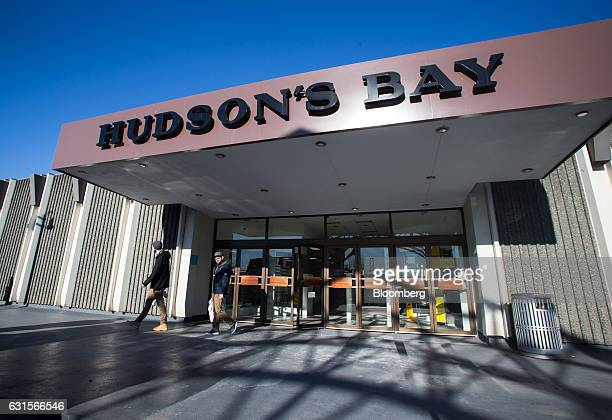 Shoppers exit a Hudson's Bay Co store in North Vancouver British Columbia Canada on Thursday Jan 12 2017 Hudsons Bay Co the Canadian departmentstore...