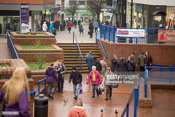 Shoppers go about their chores in Hanley on January 19 2017 in StokeonTrent England The StokeOnTrent central byelection has been called after sitting...