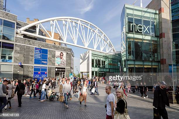 shoppers in central birmingham, england - bullring shopping centre stock pictures, royalty-free photos & images