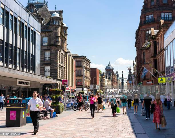 Shoppers in central Glasgow