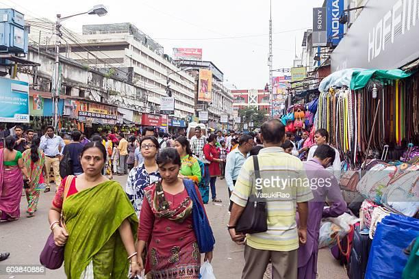Shoppers in Kolkata market, Bengal, India