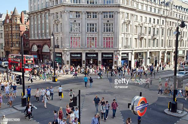 Shoppers in Oxford Circus, London