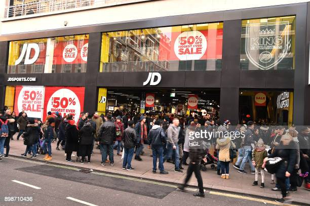 Shoppers in Oxford Street hitting the Boxing Day Sales on December 26 2017 in London England
