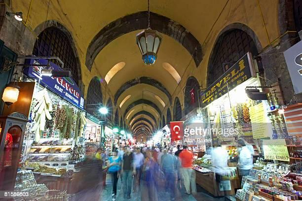 Shoppers in Spice market