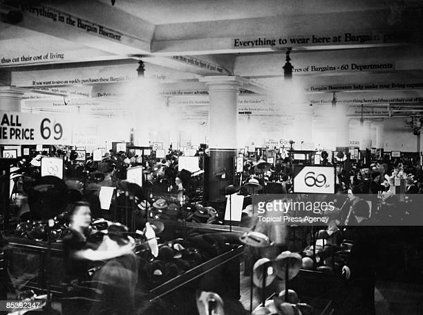 Shoppers in the Bargain Basement at Selfridges department store on Oxford Street London 7th December 1939