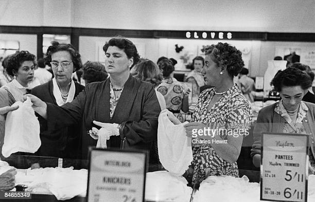 Shoppers in the lingerie department of Marks Spencer's Oxford Street branch 10th September 1955 Original Publication Picture Post 7984 Quality Value...