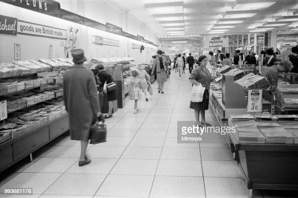 Shoppers in the Oxford Street branch of Marks Spencer 7th July 1966