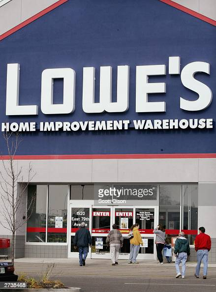 Shoppers Leave A Lowe S Store November 17 2003 In Merrillville News Photo Getty Images