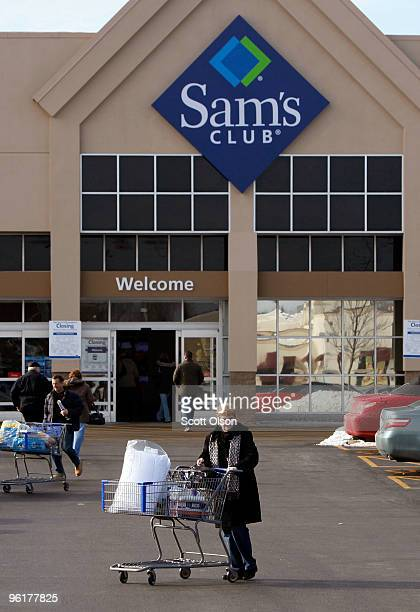 Shoppers leave a Sam's Club store January 12 2010 in Rolling Meadows Illinois WalMart Stores Inc the parent company of Sam's Club announced that it...