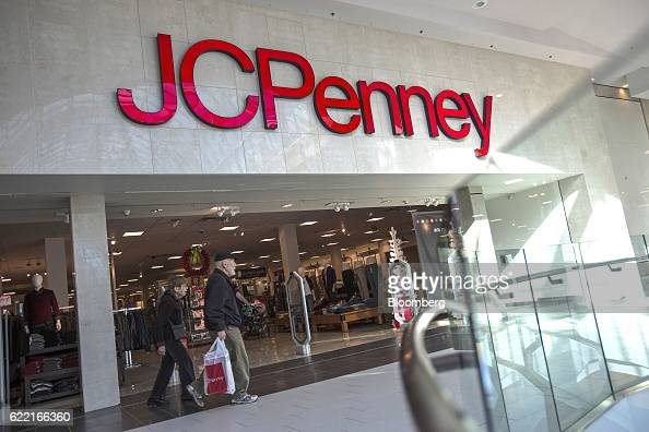 Shoppers leave the JC Penney Co  store inside the Roosevelt Field