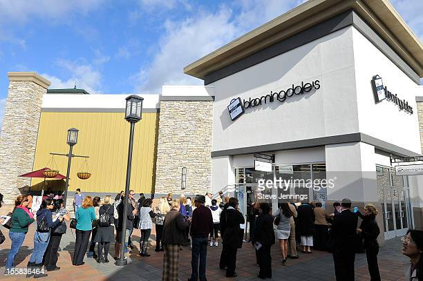 Shoppers lined up at the opening of Bloomingdale's Livermore at Paragon Outlets on November 8 2012 in Livermore California