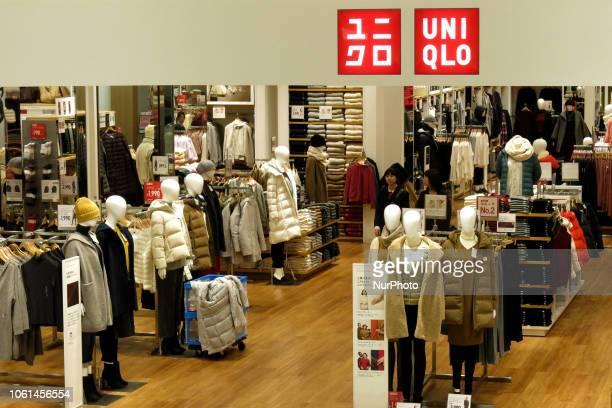 Shoppers look at items at Fast Retailing's Uniqlo store in Tokyo Japan November 14 2018