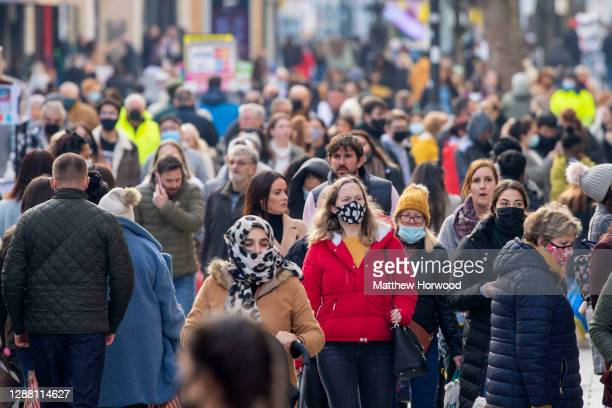 Shoppers on Black Friday on Queen Street on November 27 2020 in Cardiff Wales Restrictions across Wales have been relaxed following a twoweek...