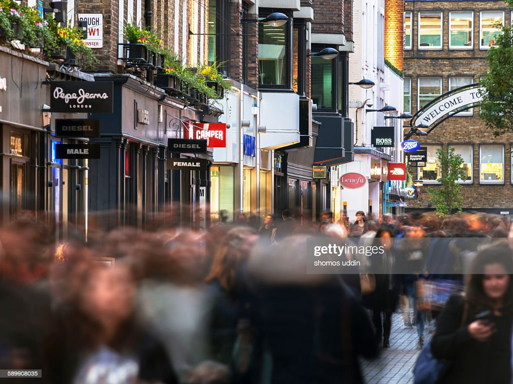 Shoppers on Carnaby Street : Stock Photo