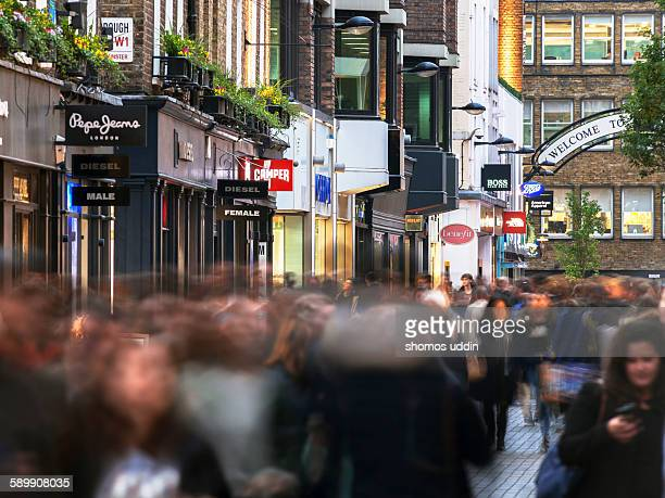 Shoppers on Carnaby Street