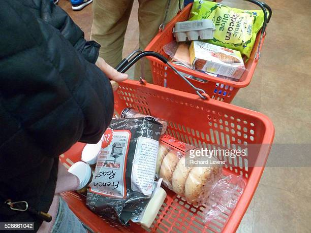 Shoppers on line with their baskets at a Trader Joe's supermarket in New York on Thursday December 10 2015