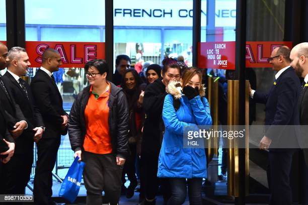 Shoppers on Oxford Street hit the Boxing Day Sales on December 26 2017 in London England