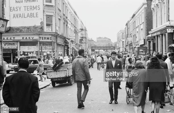 Shoppers on Portobello Road west London 3rd June 1967