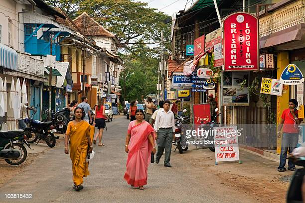 Shoppers on Princess Street, the heart of Fort Cochin.