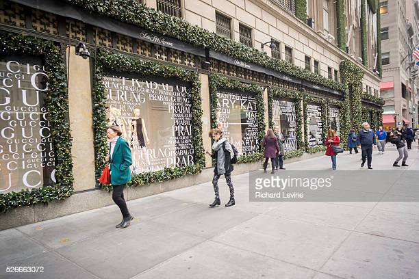 Shoppers outside of the Saks Fifth Avenue flagship store in New York on Friday, January 8, 2016. Hudson's Bay, the Canadian owner of Saks and Lord &...