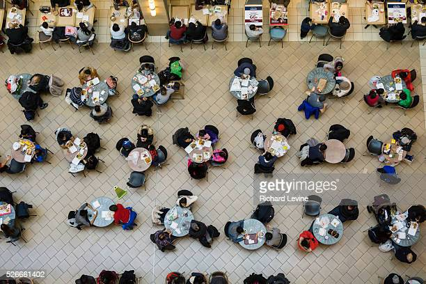 Shoppers pack the food court in the Queens Center Mall in the borough of Queens in New York on the socalled Super Saturday December19 2015 Restaurant...