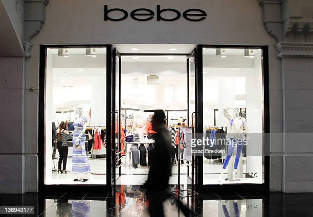 Shoppers pass the store as Adrianna Costa hosts bebe at Miracle Mile's 'Bold New Look' event on January 12 2012 in Las Vegas Nevada
