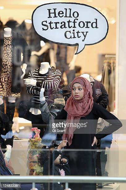 Shoppers peruse the newly opened Westfield Stratford City shopping centre on September 13 2011 in London England The new Westfield mall is the...