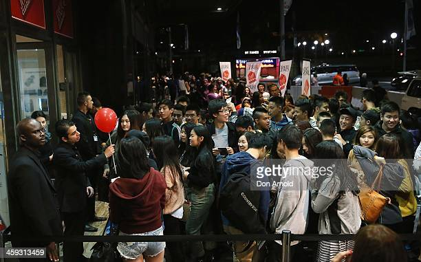 Shoppers queue up outside the David Jones city store in the early hours of the morning ahead of Boxing Day sales on December 26 2013 in Sydney...