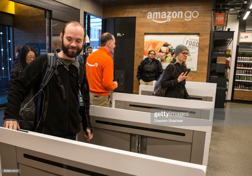 Amazon Opens First Cashierless Convenience Store In Seattle : News Photo
