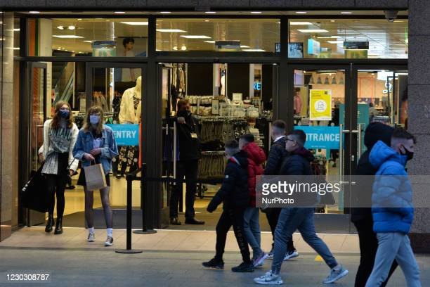 Shoppers seen on O'Connell Steet in Dublin city centre on St. Stephen's Day. Taoiseach Micheal Martin announced on December 22nd a series of new...