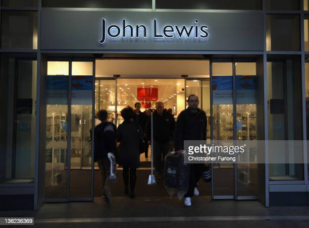 Shoppers take advantage of the post Christmas sales outside the Liverpool branch of John Lewis on December 29 2011 in Liverpool England In spite of...
