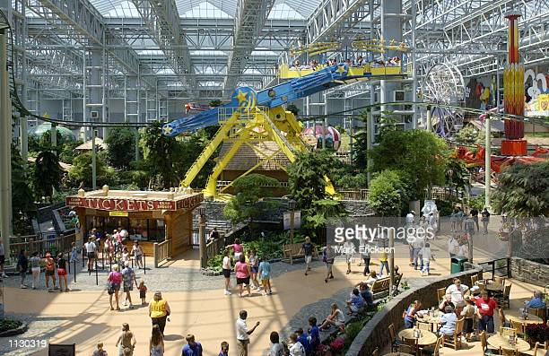 Shoppers visit Camp Snoopy at the Mall of America July 16, 2002 in Bloomington, Minnesota. The Mall of America is the largest shopping mall in the...