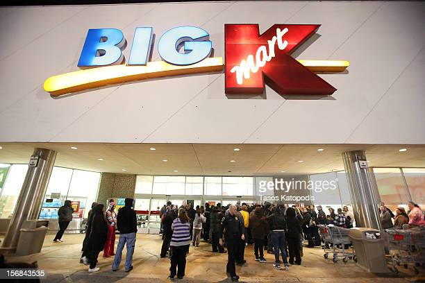 Shoppers wait for a Kmart to open on Thanksgiving night November 22 2012 in Griffith Indiana City Many stores got a head start on the traditional...